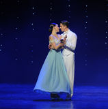 Kiss the moon goddess-doga waltz-the Austria's world Dance Stock Photography