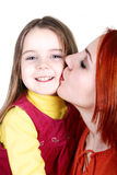 Kiss of mother Royalty Free Stock Image