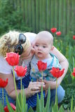 Kiss of a mother Royalty Free Stock Photography