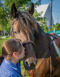 Kiss my horse Stock Photo