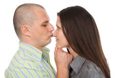 Kiss on the nose Royalty Free Stock Images