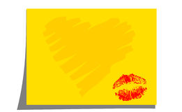 Kiss note Royalty Free Stock Photography