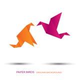 Kiss paper birds Stock Photo