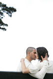 Kiss in a park Royalty Free Stock Photos