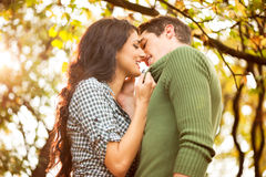Kiss In The Park Royalty Free Stock Photography