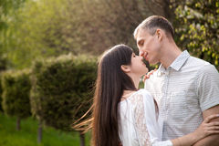 Almost kiss Royalty Free Stock Photography