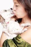 Kiss the puppy Stock Photos