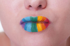 Kiss of the rainbow Stock Photography