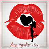 Kiss red  collection Royalty Free Stock Photo