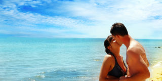 Kiss on the sea Royalty Free Stock Images