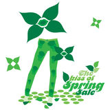 The Kiss of Spring Season-Sale Stock Images