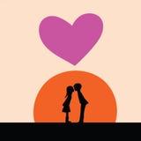 Kiss at sunset Stock Photo