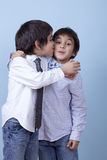 Kiss To My Bro! Royalty Free Stock Images