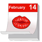 A kiss for Valentine's Day Royalty Free Stock Photography