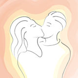 Kiss (vector) Royalty Free Stock Photography