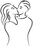 Kiss (vector) Royalty Free Stock Images
