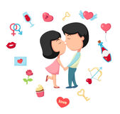 Kiss vector Stock Photo