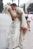 kiss wedding Στοκ φωτογραφίες με δικαίωμα ελεύθερης χρήσης