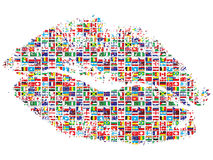Kiss of the world Royalty Free Stock Photography
