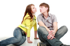 Kiss young Royalty Free Stock Photography