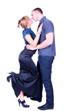 A kiss of a young couple royalty free stock photography