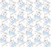 kissen Illustration von gute Nachtwünschen Nahtloses Muster lizenzfreie abbildung