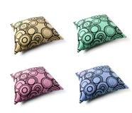 Kissen mit vier Farben Lizenzfreies Stockfoto