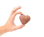 Kisses Cookies in hand. Royalty Free Stock Photography