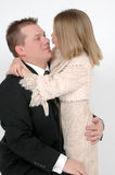 Kisses Daddy Royalty Free Stock Images