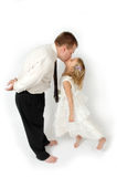 Kisses Daddy Royalty Free Stock Photo