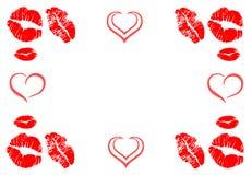 Free Kisses Frame Border Royalty Free Stock Photos - 49827228