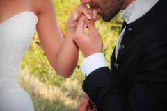Kisses hand Stock Photos