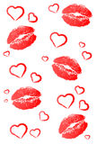 Kisses and Hearts Stock Photo