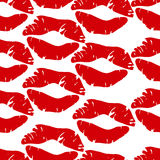 Kisses pattern Royalty Free Stock Images