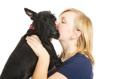 Kisses for Puppy Stock Image