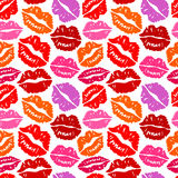 Kisses Seamless background Royalty Free Stock Photos