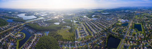 Kissimmee Florida aerial view stock image