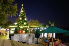 Kissimmeenacht: Kerstmisdecoratie Stock Foto's