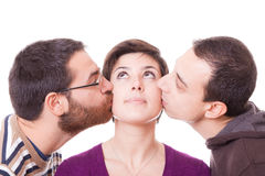 Kissing Royalty Free Stock Photo