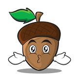 Kissing acorn cartoon character style Stock Image