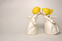 Kissing angels Stock Images