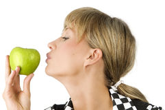 Kissing apple Royalty Free Stock Photos