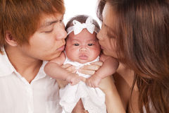 Kissing baby Stock Photo