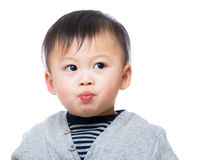 Kissing baby boy Royalty Free Stock Image