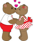 Kissing Bears Stock Photography