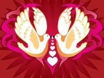 Kissing_birds Photos libres de droits