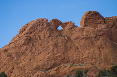 Kissing Camels at Garden of the Gods Park in Summer Stock Photography