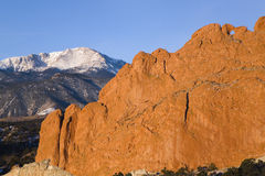 Kissing Camels and Pikes Peak Stock Photography