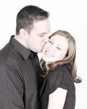Kissing Cheek Stock Photo