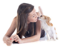 Kissing chihuahua Royalty Free Stock Photos